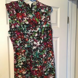 Forever 21 Multi Abstract Floral Dress